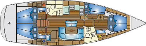 BAVARIA 46 CRUISER (1) Layout Image